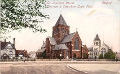 St Laurence Church, Vicarage and Town Hall, Catford, South London. London History, Local History, South London, Old London, Sister Home, St Lawrence, Old Building, Town Hall, Old Town