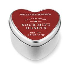 Williams-Sonoma Small Heart Tin with Mini Heart Sour Gummies #williamssonoma