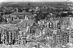 Dresden, Germany after the bombings towards the end of WWII that destroyed the city