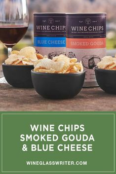 Enjoy our thick, lattice-cut potato chips in our 2 most popular flavors: Smoked Gouda and Blue Cheese. Each flavor is beautifully packaged in its own gift tube and sealed in a 3 1/4 oz. foil bag. Naturally gluten free. #winechips #chips #potatochips #winesnack #snacks #wine #winepairing #winegift White Wine, Red Wine, Cheese Pairings, Smoked Gouda, Wine Cheese, Potato Chips, Wine Gifts, Gluten Free, Snacks