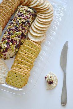 pistachio cranberry cheese log
