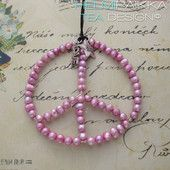 Roosa peace-kaulakoru 35€ #peace #rauhanmerkki #peacekaulakoru #rauhanmerkkikaulakoru #peacelove