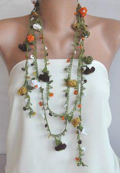 Oya necklace #crochet