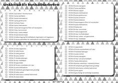 Tulostettava printable Årsklocka för hushållsarbeten
