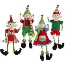 Idea - Have Elves climbing and hanging onto garland. RAZ Sitting Posable Elf Set of 4 4 Asst Multicolored Made of Polyester Measures Not Intended for Children - Not a toy For Decorative Use Only Artist: Mark Davies RAZ Exclusive Additional Elf Christmas Decorations, Christmas Crafts, Christmas Ornaments, Christmas Ideas, All Things Christmas, Christmas Holidays, Kindness Elves, Elf Doll, Elves And Fairies