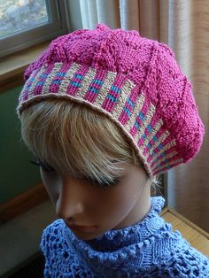 Faux plaid brim on snazzy snug hat...fun pattern, easy to knit up as a gift or donation to a cancer center! The Mary Anne Hat pattern! found on ravelry.com