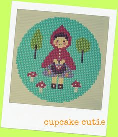 Little Red Riding Hood cross stitch needlepoint by cupcakecutie1