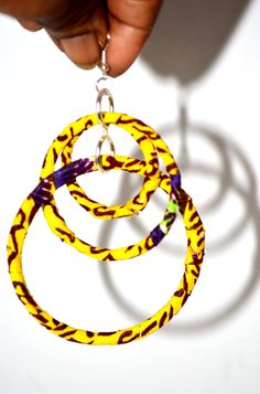 Yellow African Dangling Hoop Earrings Yellow African Ankara Print Dangling Hoop Earrings, Ankara Earrings, African tribal earrings,Women Earrings, Green Earrings By Zabbadesigns African Earrings, Tribal Earrings, African Jewelry, Green Earrings, Women's Earrings, Diy Ankara Earrings, Fabric Earrings, Fabric Jewelry, Jewelry Gifts