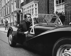 McGoohan'the Prisoner' driving this Lotus Super 7 Series II