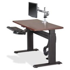 """Lorell Height-adjustable Workstation Tabletop - Mahogany - x 60"""" Table Top Width x 24"""" Table Top Depth x 1"""" Table Top Thickness - Yes - Mahogany Top"""
