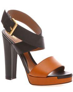 FENDI Leather High-Heel Sandal