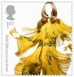 Royal Mail celebrate Great British fashion with new stamp collection - Ossie Clark dress with a print by Celia Birtwell Royal Mail Stamps, Uk Stamps, Postage Stamps, Great British, British Style, British Fashion, British Summer, Gold Fashion, Royal Fashion