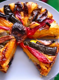 Rainbow Foccacia bread - Made with roasted vegetables. Gorgeous!