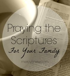 31 Days of Praying the Scriptures For Your Family - Pray 1 Scripture per day for your family! Landing page and all links here! #prayingthescriptures #free printables