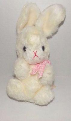 "10"" RUSS BERRIE 1979 White Plush SOFTEE Bunny Rabbit Pink Check Bow  4 | Toys & Hobbies, Stuffed Animals, Other Stuffed Animals | eBay!"
