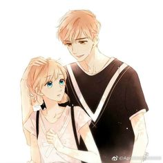 Love like cherry blossoms- Xia Yi and Lu Lu Manga Couple, Anime Love Couple, Anime Couples Manga, Cute Anime Couples, Anime Guys, Kawaii, Couple Wallpapers, Cute Couple Art, Fanart