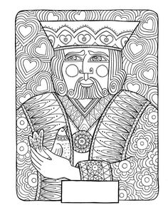 free coloring pages king of hearts | Happy (belated) Coloring Monday! Here your coloring page ...