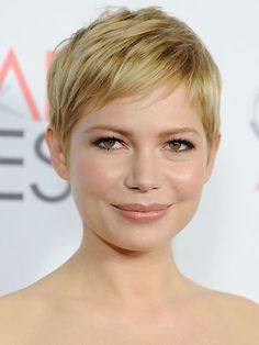 "Michelle Williams went short in 2011 with this ""pixie"" crop style"