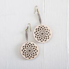 A personal favorite from my Etsy shop https://www.etsy.com/il-en/listing/235738262/wooden-earrings-laser-cut-earrings