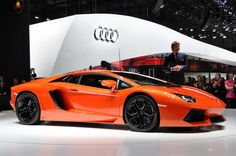 The Top Ten Fastest Cars in Production - 2. Lamborghini Aventador LP700.