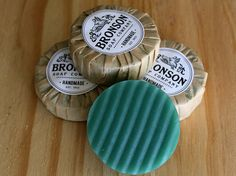 Men's Cool Water Shaving Soap with Bentonite Clay from the Bronson Soap Company