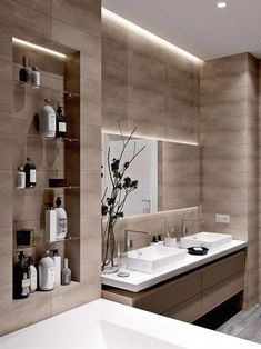 Moderne Badezimmer-Design-Ideen, zum sich zu inspirieren , Modern Bathroom Design Ideas To Inspire For example, if you need a modern bathroom vanity set, measure the available space first. The modern bathr. Bathroom Design Luxury, Bathroom Layout, Modern Bathroom Design, Bathroom Ideas, Bathroom Organization, Bathroom Designs, Luxury Bathrooms, Bathroom Gallery, Bathroom Makeovers