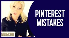 4 min youtube video Pinterest marketing mistakes all the time. Make sure you're not ruining your own business with these. http://richmombusiness.com/ptemplates - X0X0 Renae.