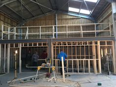 17) The new kitchen, service hatch and mezzanine eating area is coming together at Toms Dairy