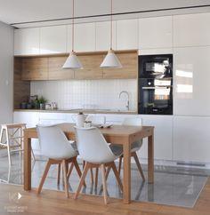 Kitchen Room Design, Kitchen Cabinet Design, Modern Kitchen Design, Home Decor Kitchen, Kitchen Furniture, Home Kitchens, Small Modern Kitchens, Modern Kitchen Interiors, Modern Kitchen Cabinets