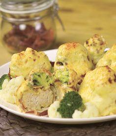 Delicious Broccoli And Cauliflower Chicken Rolls Recipe -