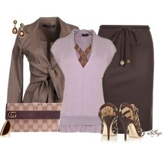 """Lilac and Brown Contest 2"" by kginger on Polyvore"