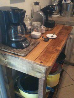 Kitchen Island made from pallet wood https://www.facebook.com/LHPalletCreations