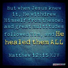 Matthew 12:15