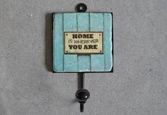 "Garderobe Haken ""Home"" von Henri Banks auf DaWanda.com"