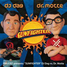 DJ Dag vs Dr. Motte - Sunfighter - Praxxiz / PRZ002 Cover made in play dough #plasticine #Knete bei Ellen Dosch www.praxxiz.de Plasticine, Play Dough, Electronic Music, Dj, Cover, Fictional Characters, Beige, Moth