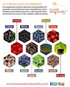 La Santé dans l'Assiette: Fiche pratique - Les meilleures sources de polyphénols