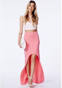 Mariola Coral Curve Front Maxi Skirt