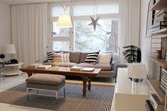 Living room / Scandinavian / Home / Black and white / Artemide Tolomeo / By Lassen / String system / Valanti / Artek / Tikau