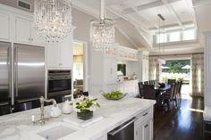 trendsideas.com: architecture, kitchen and bathroom design: Glamor kitchen by Iris Dankner   glam lighting