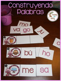 Spanish Word Work Stations