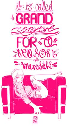 """Jovove's """"sexy hipster girls"""" from a pink mind in Sweden.    artist: http://www.jovove.com/"""