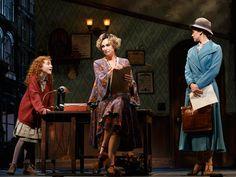 Lilla Crawford as Annie, Jane Lynch as Miss Hannigan and Brynn O'Malley as Grace in Annie.