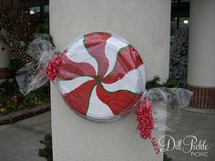 Craft:  Peppermint Candy Decoration