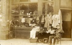 An Edwardian second-hand shop Found image.
