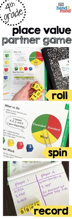 These games are perfect for fourth grade and upper elementary students learning place value.  Best of all, they are differentiated math activities that require no prep and are ready to use!  Each center includes a fun worksheet that's perfect for kids to do independently while the teacher is instructing guided math or small groups.  Use them in the classroom to create anchor carts, or for stations, task cards, enrichment, and mini lessons – all while meeting common core standards.