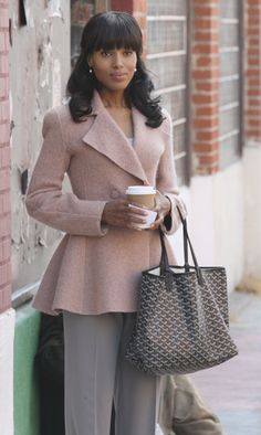 "Love this look...great cut on the jacket, nice bag...and the ""bangs"""