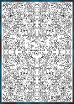 Ephesians 4:32 Be KIND. Three bible coloring pages #bible #coloring #kind
