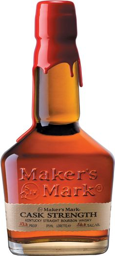 Maker's Mark Cask Strength Kentucky Straight Bourbon #Whiskey.  Aged for approximately six years, this #bourbon is bottled at cask strength. | @Caskers