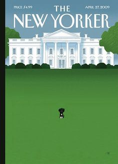 The Obama Portuguese Water Dog 'Bo' - New Yorker cover by Bob Staake