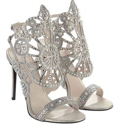 Nicholas Kirkwood's Arabian Pearl Kaleidoscope Sandal Wedding Shoes